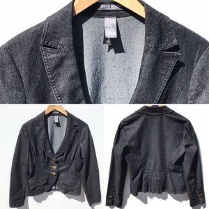 BISOU BISOU dark wash denim jacket